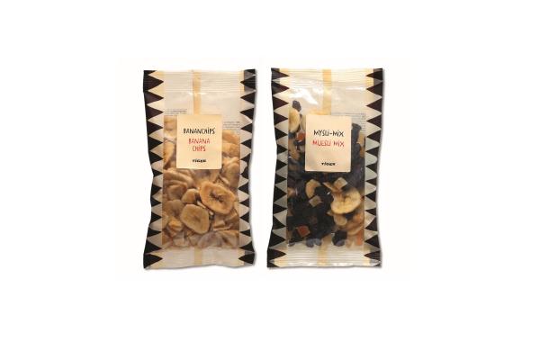 Banana chips and Muesli mix